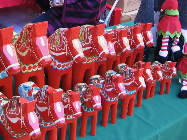 Lots of unique Christmas gifts were out on display for purchase throughout Balboa Park during December Nights.