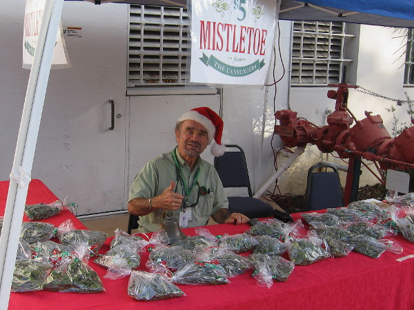Of course, you can buy mistletoe from this guy near the Natural History Museum!