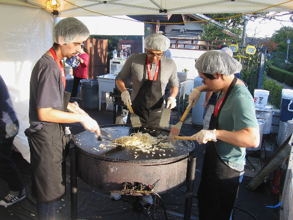 These guys preparing food are in front of the Japanese Friendship Garden.