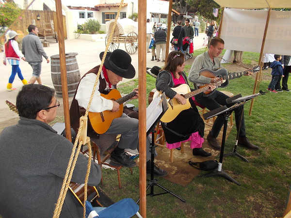 Lots of music was being played during today's Mormon Battalion Commemoration event in Old Town San Diego.