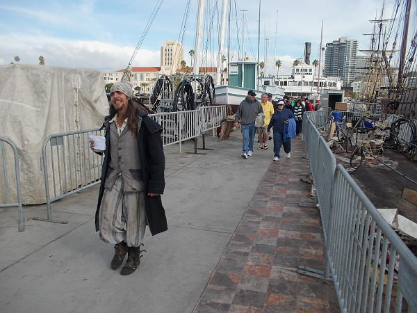 A smiling, innocent-looking pirate just walks along. People suspect nothing.