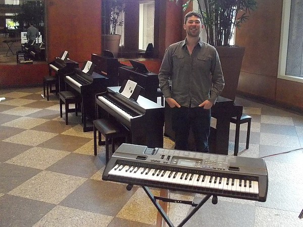 This friendly music instructor would teach lots of kids how to play the piano at Hands On Community Day at the San Diego Symphony!