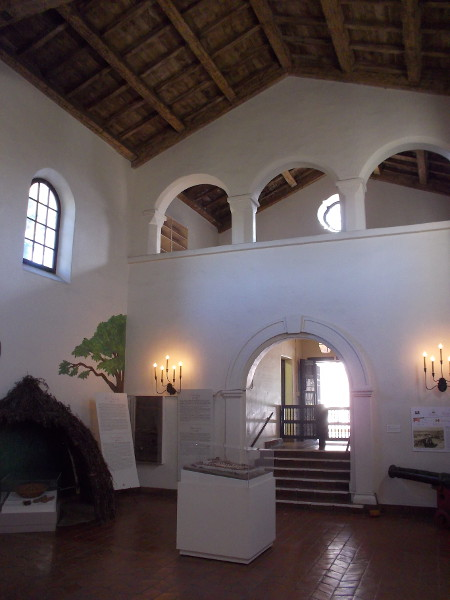 Another look at the beautiful interior of the Serra Museum in San Diego.