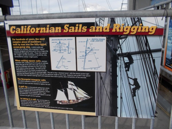 In case you want to learn a bit more about Californian's sails and rigging, click this photo. Unfortunately, pirates know all about this stuff.