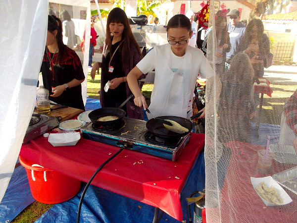 Lots of authentic Chinese food was being gobbled up, including these Green Onion Pancakes!