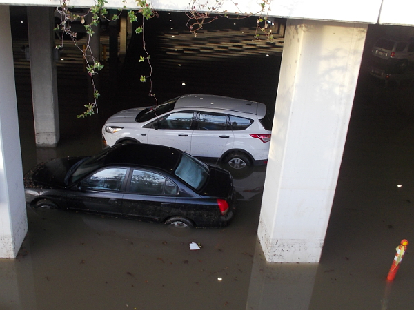 More cars abandoned in the flood. Many storms are in line to strike San Diego in the coming days during this El Nino year.