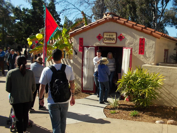 Many Balboa Park visitors were heading into the House of China cottage today.