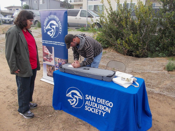 The San Diego Audubon Society had a table at the event.