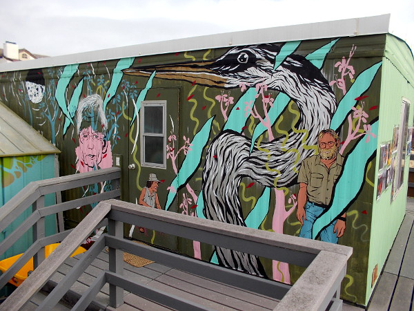 Fun nature mural on side of the Kendall-Frost Reserve Trailer in Pacific Beach!