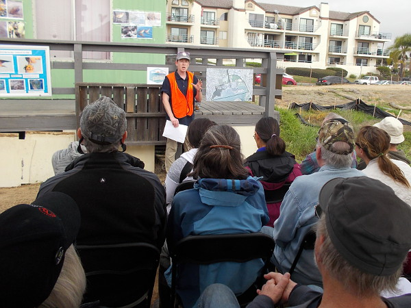 Speaker describes how the ReWild project of the San Diego Audubon Society is working to restore important wetlands in the northeast corner of Mission Bay.