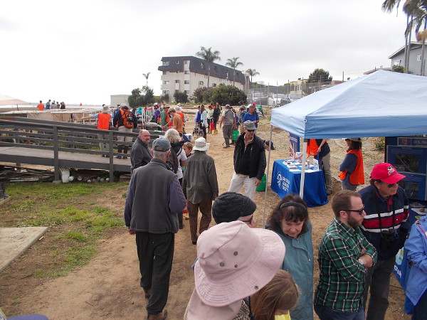 Folks are heading every which way, learning about the marsh and setting about to help restore it!