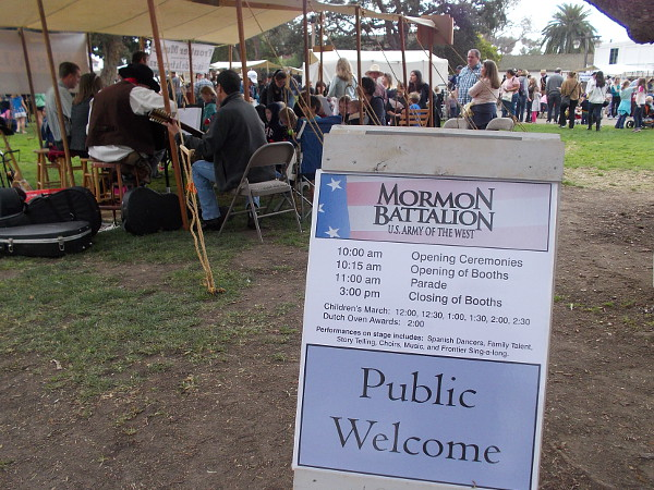 The public was welcome to this celebration of the Mormon Battalion. It included a parade, which I unfortunately missed.
