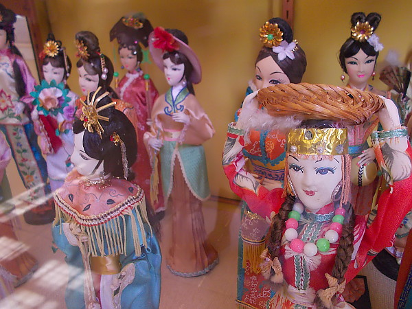 A colorful collection of beautiful porcelain dolls inside the House of China in San Diego's always wonderful Balboa Park!