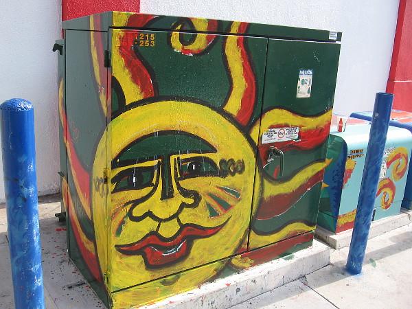 A happy sun shines on a sidewalk in San Diego's cool North Park neighborhood.