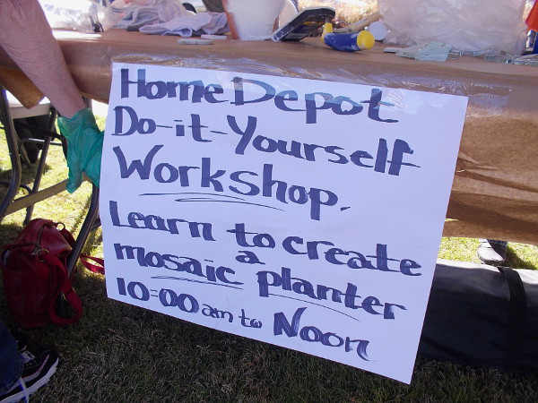 Home Depot sponsored the Do-it-Yourself Workshop. Everyone learned how to piece together beautiful mosaics!