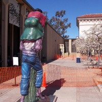 Outdoor sculptures being installed in Balboa Park!