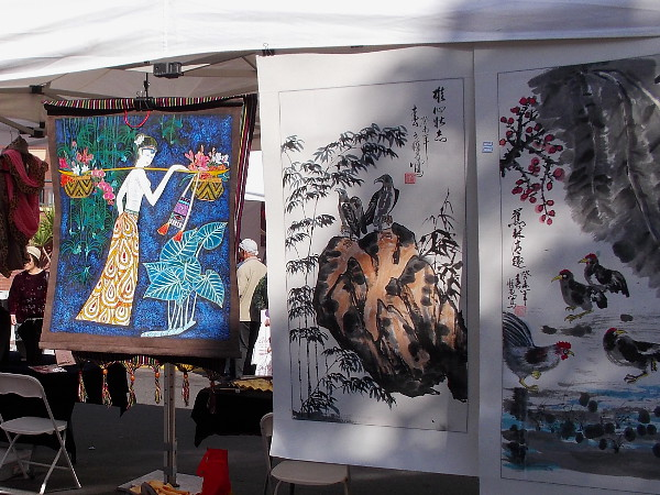 Uniquely beautiful Asian art could be seen up and down the street during the San Diego Chinese New Year Food and Cultural Fair.
