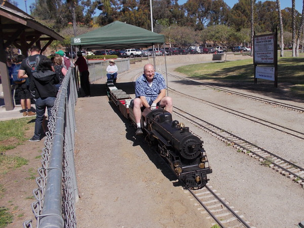 Adults love riding the trains just as much as kids. Hobbyists build and maintain the rail cars and working locomotives, and haul them to the park for some fun.