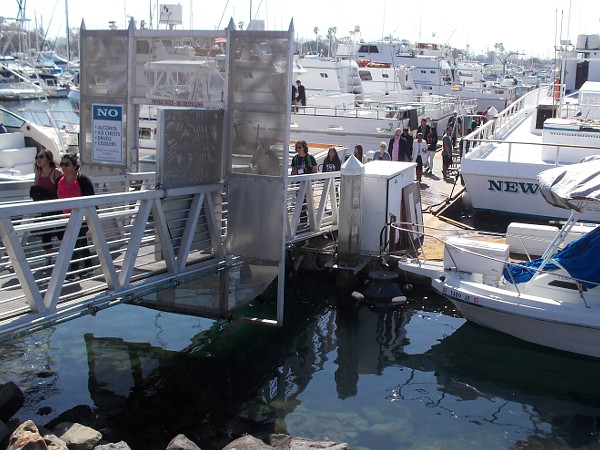 People return from an excursion out on the Pacific Ocean. The dock at Seaforth Sportfishing is always busy.