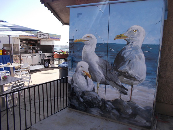 Brand new artwork enlivens a favorite place on San Diego's Embarcadero.