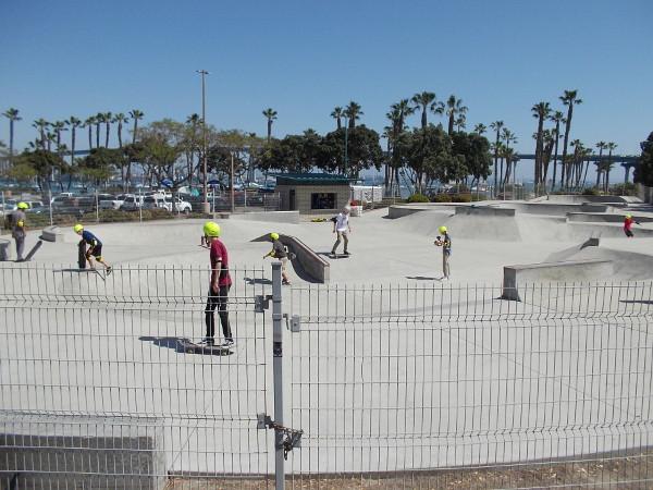 Skateboarders enjoy the City of Coronado Skatepark located at Tidelands Park.