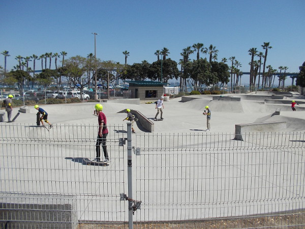 Skateboarders enjoy the City of Coronado Skatepark located at Tidelands Park.