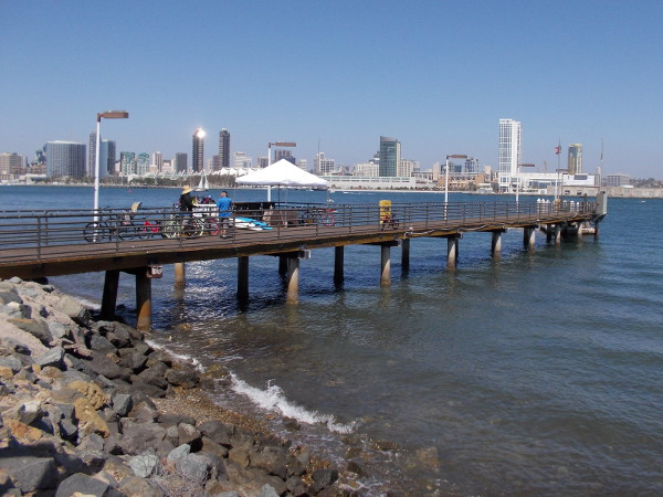 At the Coronado Island Marriott Resort and Spa pier you can rent jet skis and kayaks for fun on the water.
