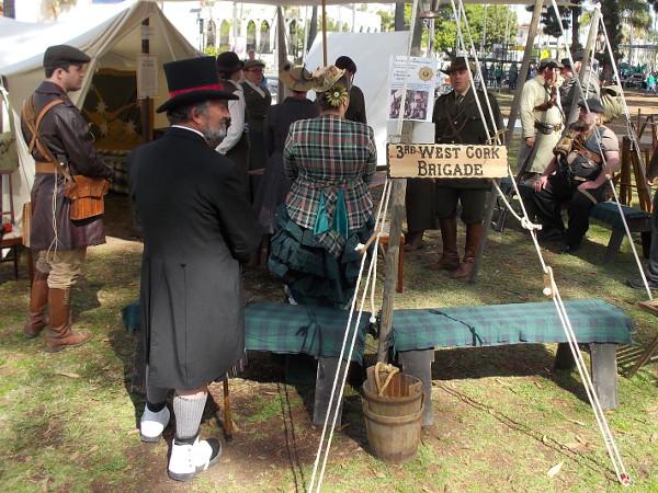 Members of the 3rd West Cork Brigade were dressed in period costume to demonstrate their Irish pride.