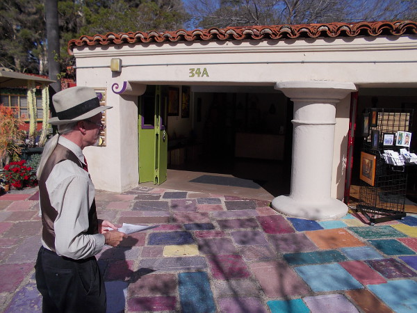 Jeff shows me Studios 34 A and 34 B, which were originally one space featuring a puppet show.