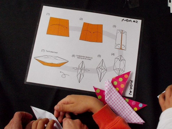 How to fold an easy origami boat that really floats!