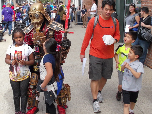 Yeah, making a cool costume out of Star Wars toys might take a bit of glue. But all you really need is determination and imagination! (And maybe a credit card.)