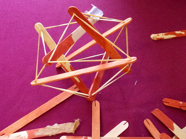 Check it out! Tensegrity is also sometimes called tensional integrity or floating compression.