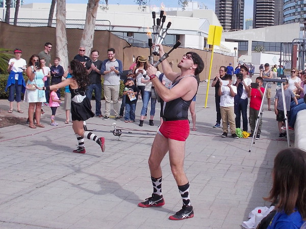 A performing duo called Her Majesty's Secret Circus Show had a funny act that included juggling, silliness and lots of bad jokes.
