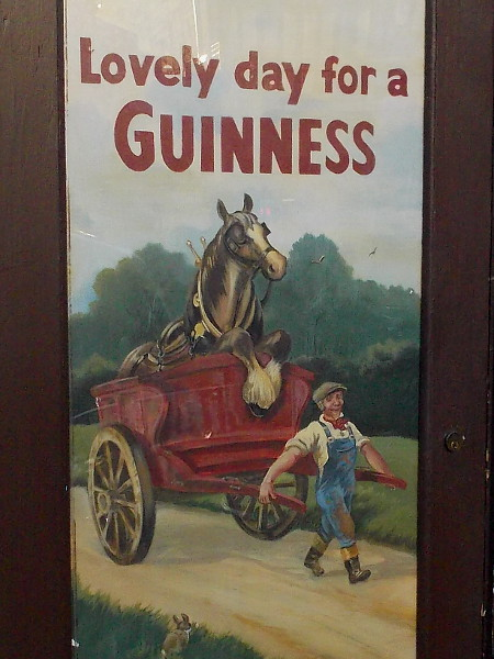 Lovely day for a Guinness. Especially if you're a horse enjoying a nice leisurely ride.