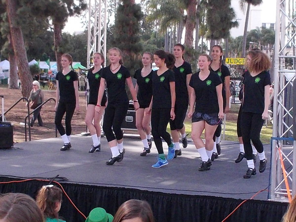 Irish dancing was being performed on one stage an hour before the parade got underway.