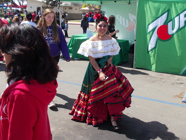 A smiling senorita at the International Mariachi Festival and Competition in National City.