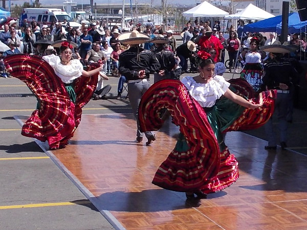 A typical scene from the annual Mariachi festival in National City.