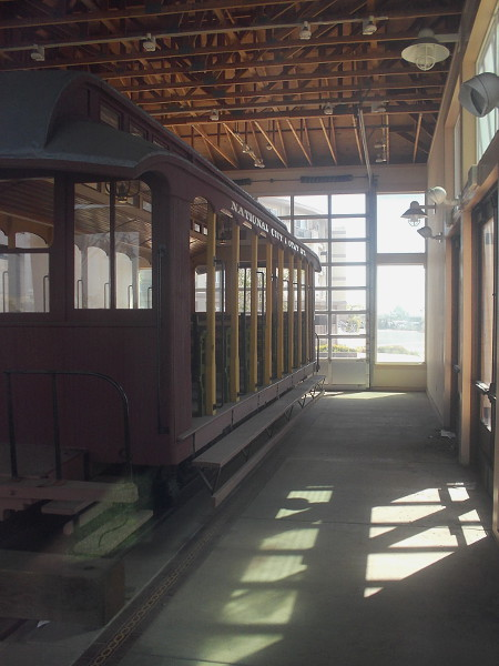 That bit of history is the restored Passenger Coach No. 1, of the long-defunct National City and Otay Railway.
