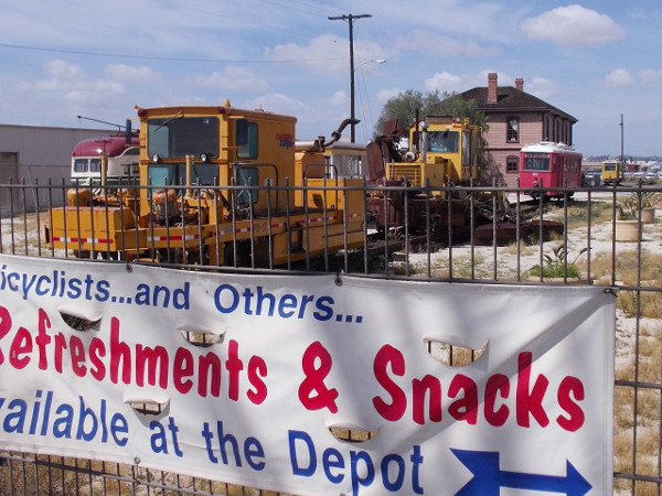 There's more than refreshments and snacks at the National City Depot. There's a huge, cool collection of local railroad and trolley history!