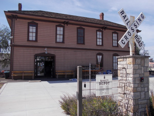 The National City Depot was built in 1882. It was the western terminus of the Santa Fe Railroad's transcontinental line.