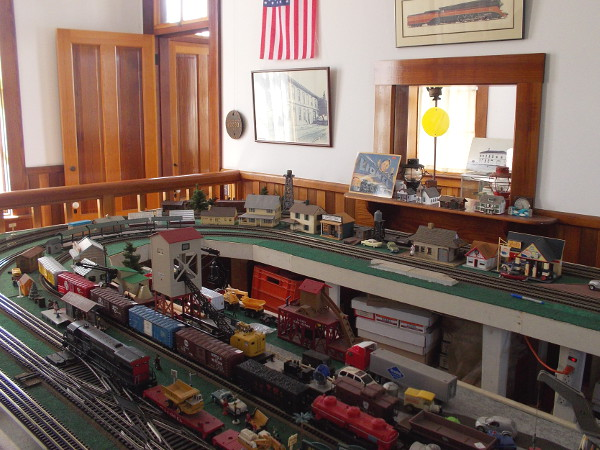 A second room inside the National City Depot contains a huge model train layout! The exhibit is run when the depot is open Thursdays to Sundays from 9am to 5pm. It appears that SDERA members have a lot of fun!