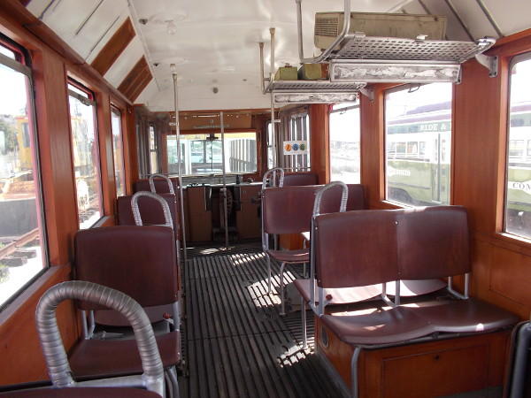 Looking back where passengers would sit. There didn't seem to be much capacity in the small cars.