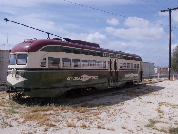 Now we'll check out PCC Car 539, which was donated to SDERA by the Metropolitan Transit System.