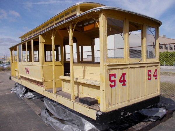 An antique open air streetcar at the National City Depot. This a grip car, like the cable cars in San Francisco. Few people realize that San Diego had a cable car line that briefly ran from the Gaslamp to University Heights in the early 1890s!
