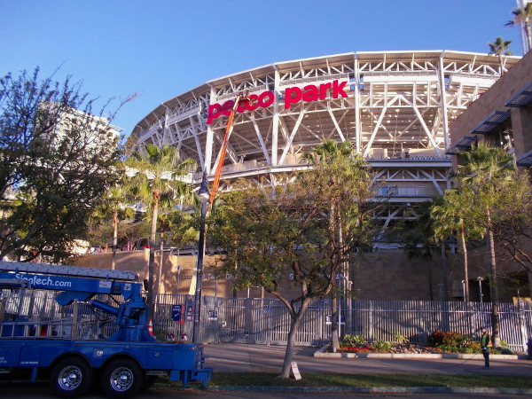 A brand new sign is being installed at Petco Park, stadium home of Major League Baseball's awesome San Diego Padres!