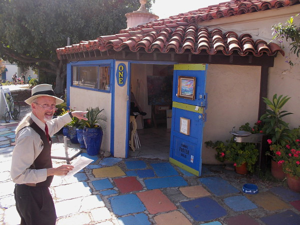 Jeff provides a really interesting tour. Look for his friendly smile if you happen to find yourself in wonderful Spanish Village!