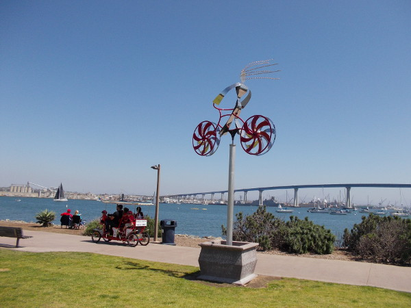 My Bike, by Amos Robinson, 2008. This inventive kinetic sculpture turns in the wind. It was part of the Port of San Diego's fun Urban Trees 5 exhibition.