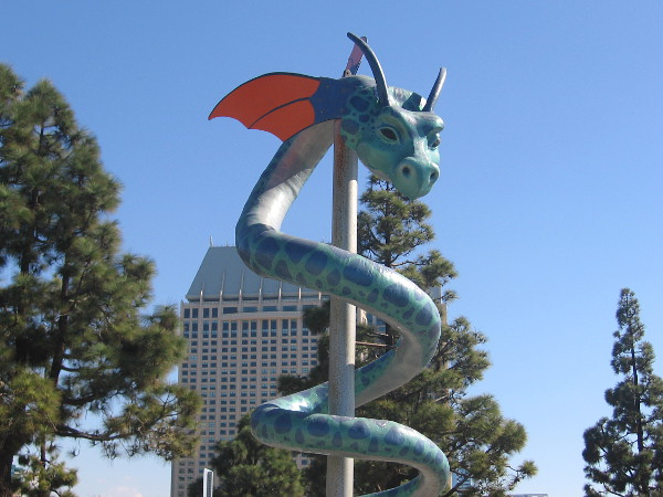 My walks around San Diego are frequently interrupted by dragons and other very cool sights!