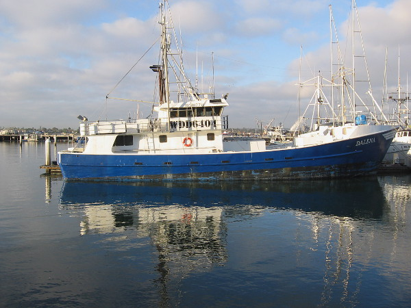 Commercial fishing vessel Dalena in San Diego's present-day Tuna Harbor.