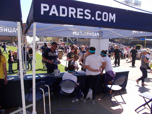 The San Diego Padres pulled out all the stops during 2016 FanFest. It appeared that many people were buying tickets for the upcoming season.